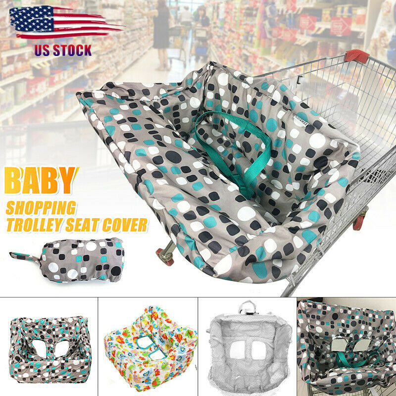 Child Baby Kid Shopping Trolley Cart Cover Seat High Chair Protective Pad Mat