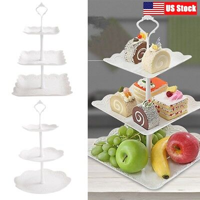 3-Tier Cupcake Stand Cake Dessert Wedding Event Party Display Tower Plate New (Cupcake Towers)