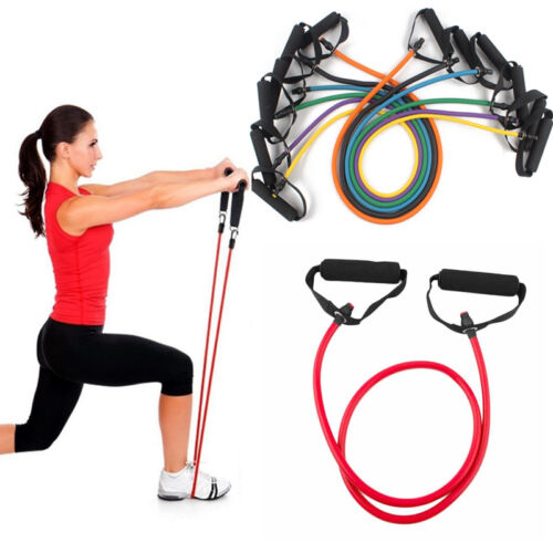 Fitness Latex Band Gym Pilates Yoga Train Rope Exercise Stretch Tube Resistance