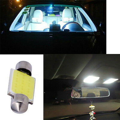 12V 3W Lamp LED COB Festoon Dome Interior Bulb Car Map Reading Light
