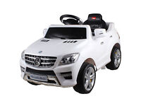 Licensed Mercedes ML350 6V Electric Ride on Kids Car with Remote - White