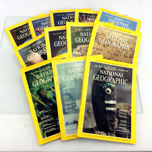 1980 National Geographic Magazines Complete Year Set 12 Issues