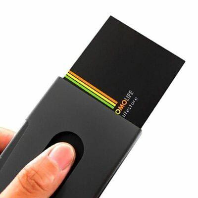 Card Case Holder Thumb Sliding Slider Slide Business Credit Name Wallet Discount