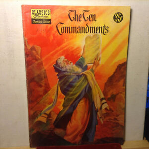 Classics Illustrated THE TEN COMMANDMENTS No.135A - G 1956 Vinta