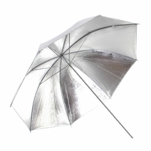 """P. C. Buff 48"""" Silver/White Bounce Umbrella"""
