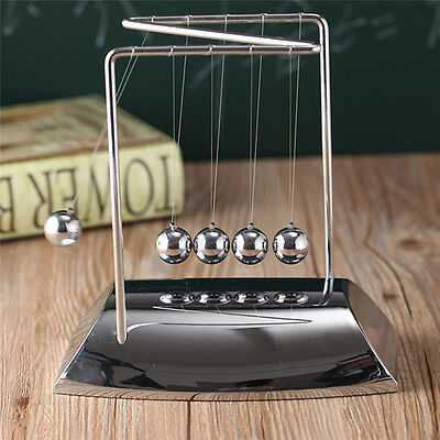 Newtons Cradle Balance Steel Ball Physics Science Pendulum Nice Desk Decor Gift
