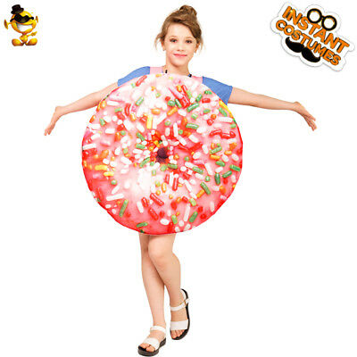 Unisex Kids Doughnut Costumes Food Theme Funny Carnival Party Cosplay Jumpsuit