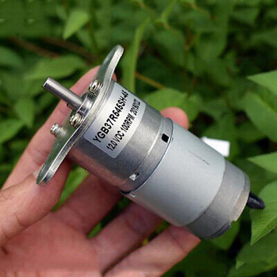 Dc 12v 100rpm Slow Speed Large Torque Power Micro Mute 37mm Electric Gear Motor