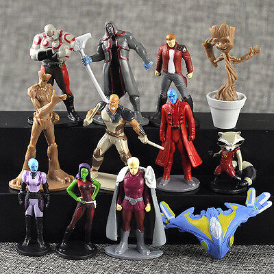 12 Guardians of the Galaxy 2 Action Figures Dancing Groot Rocket Toy Cake