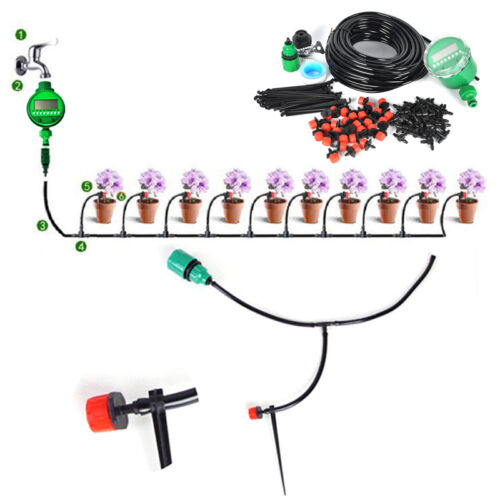 Auto/Manual DIY Watering Irrigation System Sprinkler Drip
