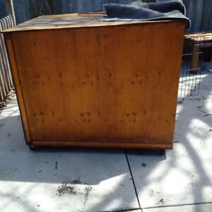 Insulated Dog House for Large Crate on Wheels