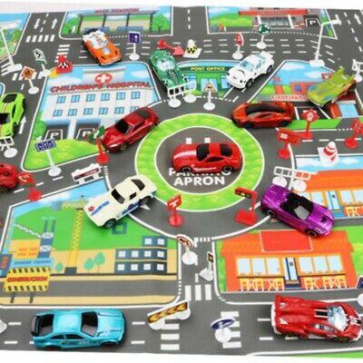 Kids Children Educational Toys Car Map Play Mat Road Buildings Interactive Games