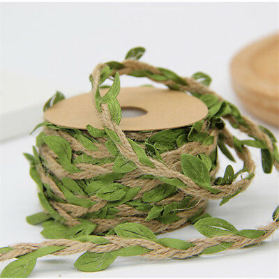 Blätterband Blatt grün Ranke Jute Kordel Band Dekoband Geschenk Weihnachten DIY