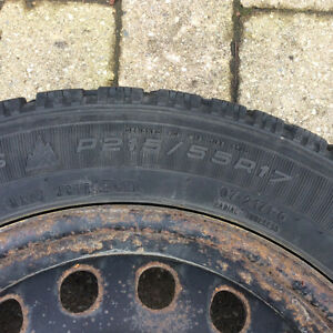 Goodyear Nordic Winter Tires P215/55R17 London Ontario image 2