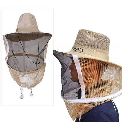 Beekeeper Beekeeping Cowboy Hat Mosquito Bee Insect Net Veil Face Head Protector