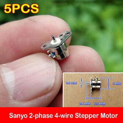 5pcs Sanyo Stepper Motor 2-phase 4-wire Mini Micro 5mm Precision Stepper Motor