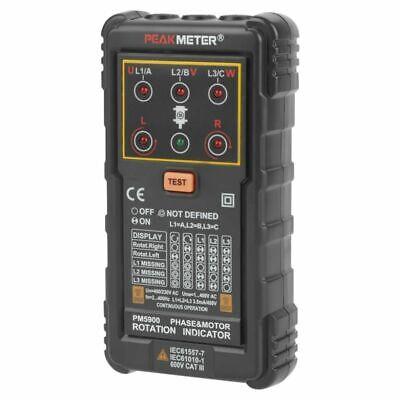Portable Handheld Three Phase Motor Rotation Indicator Tester Voltage Meters