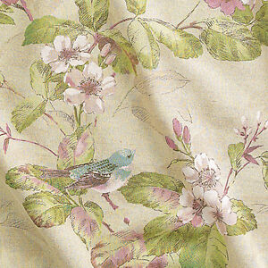 LINEN-COTTON-HOME-DECOR-CURTAIN-VINTAGE-GARDEN-MINT-54