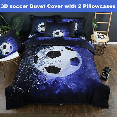 Football Bedding - 3D Football Soccer Duvet Quilt Cover Bedding Set Pillowcase Comforter Cover Set