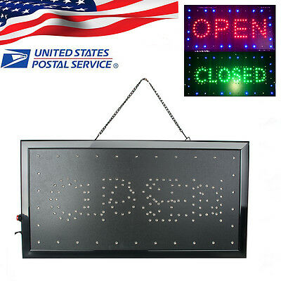 9.820.47 2in1 Openclosed Led Sign Store Shop Display Neon Light 2-5 Day Ship