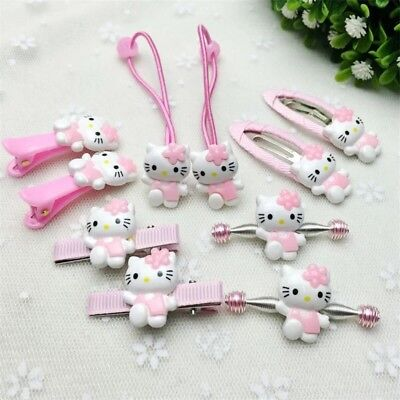 Hello Kitty hair accessories for girls kids clips Hair Band (Kitty Accessories)