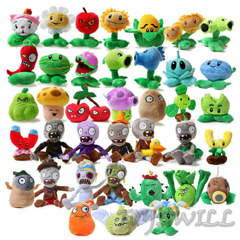 Plants vs Zombies 2 PVZ Figures Plush Toy Soft Stuffed Doll Cute Kid Baby Gift