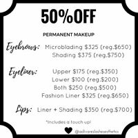 50% Off Permanent Makeup! Limited Time Only!