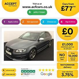 Audi S3 2.0T FSI quattro S Tronic 2012MY Black Edition FROM £77 PER WEEK !