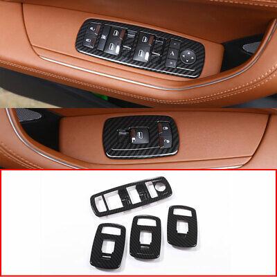 Carbon Fiber Style For Maserati Levante 2016-2019 Window Lift Button Frame Cover