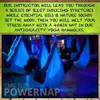 "PowerNap AntiGravity Restorative Yoga Class ""Cocooning"""