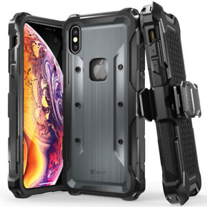 iPhone Xs Max Holster Case Rugged Military Grade Heavy Duty Case