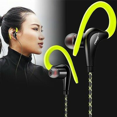 Gold-Plated Stylish Running Exercise Sports Earphone Earbud Earset With Mic Lot