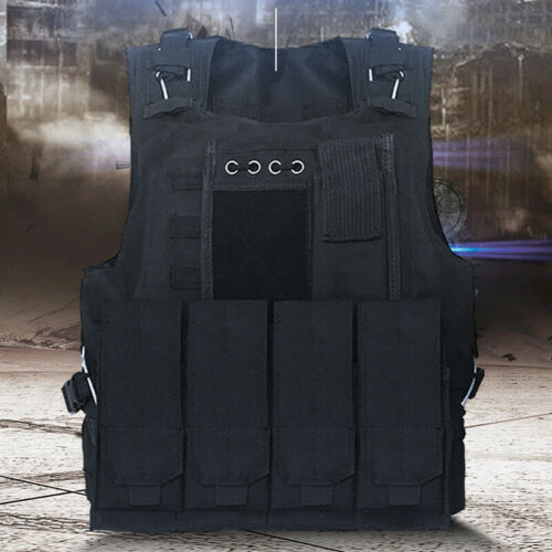 Military Tactical Vest Gun Holder Combat Molle Army Assault Hunting Plate Gear