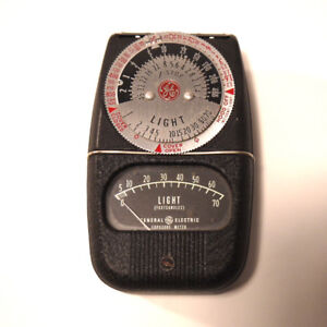 """VINTAGE 50's G.E. TYPE DW-68 LIGHT METER GENERAL ELECTRIC """"photo"""