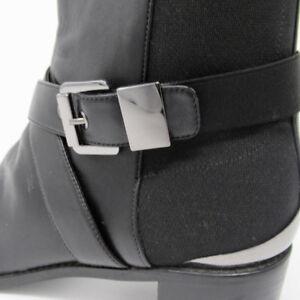 Stuart Weitzman Boots Black Ankle Leather Buckle Detail size 11