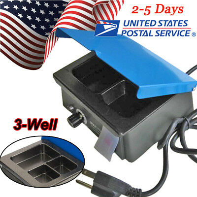 Usa Dental 3-well Pot Lab Melting Pot Dipping Analog Wax Heater Melter 110v220v