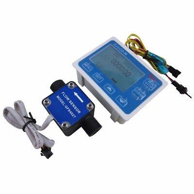 12 Lcd Fuel Flow Meter Controlleroil Gas Diesel Milk Water Liquid Flow Sensor