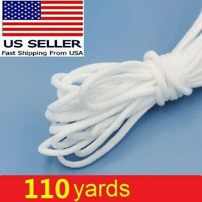 110 yards Round Elastic Cord Band String For DIY Face Mask Trim Ear Hanging Tape