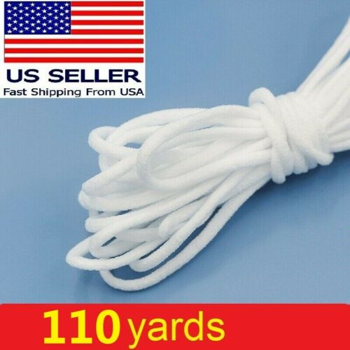 110 yd Round Elastic Rope Band Cord Ear Hanging Tape Sewing Crafts for Face Mask