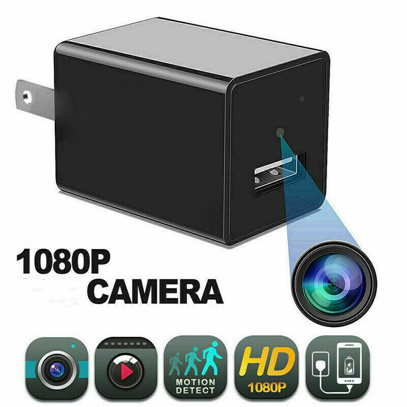 HD 1080P Home Security Camera USB Phone Charger AC Adapter