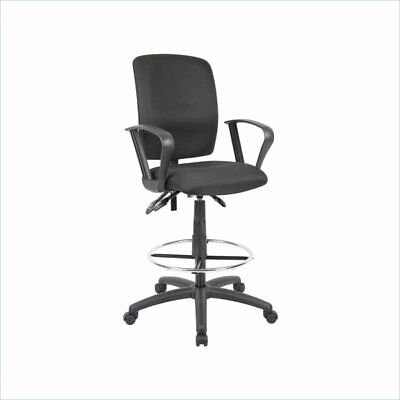 Boss Office Multi Function Fabric Drafting Stool With Loop Arms