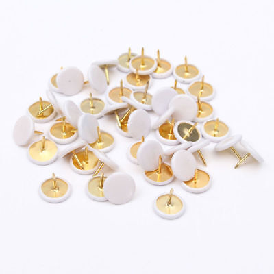 50Pcs Round  Push Pins Notice Board Map Thumb Tacks Point Bulletin Drawing ()