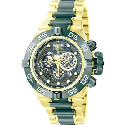 Invicta Subaqua Noma IV 6562 Mens Gold Black Chronograph Date Round Analog Watch