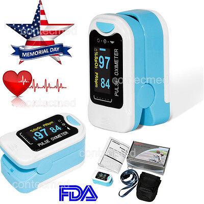 Fingertip Pulse Oximeter Spo2 Monitor Bloos Oxygen Case Fda Ce Usa Oled Display
