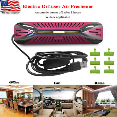 1x Electric Diffuser Air Freshener Plus 6 Refill Pads For Car Home Office Aroma