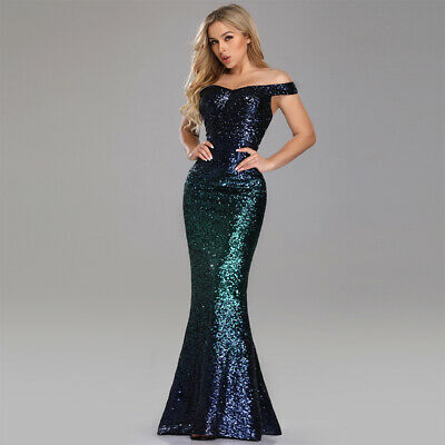 Ever-Pretty US Plus Mermaid Gown Green Bodycon Dress Sequins Evening Dress -