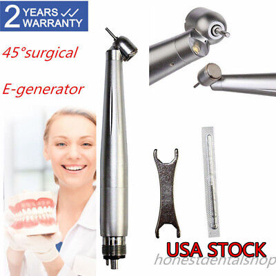 Nsk Style Dental Led Fiber Optic Handpiece 45 Surgical E-generator 4hole