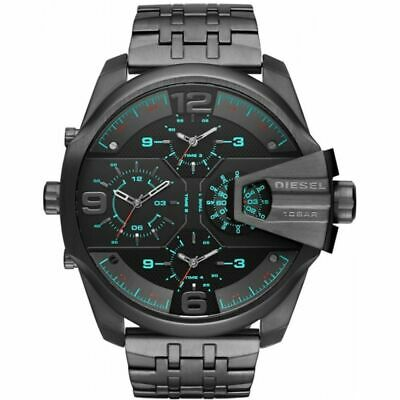 NEW MENS DIESEL WATCH GUNMETAL STAINLESS STEEL CASE DZ7372 for sale  Shipping to India