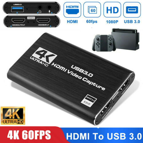 4K HDMI To USB 3.0 Video Capture Card Dongle 60FPS for OBS G