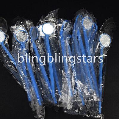 100 Pcs Dental Disposable Anti-fog Mouth Exam Mirrors Plastic Dental Instrument